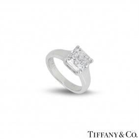Tiffany & Co. Diamond Platinum Lucida Ring 2.08ct G/VS1